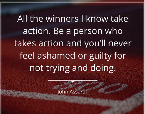 take action toward your goals